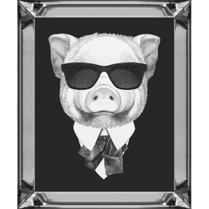 Portrait Of Piggy In Suit