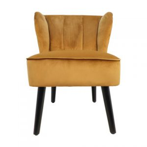 Cocktail Chair Estelle – Velours – Mosterdgroen