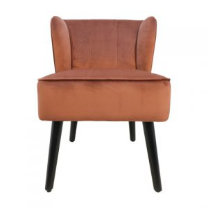 Cocktail Chair Estelle – Velours – Koperbruin