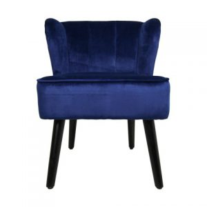 Cocktail Chair Estelle – Velours – Donkerblauw