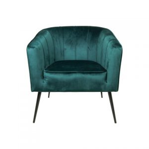 Fauteuil Chester – Velours – Donkergroen