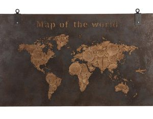 Wooden Wall Art 140×4.5x80cm – Natural/Rusty